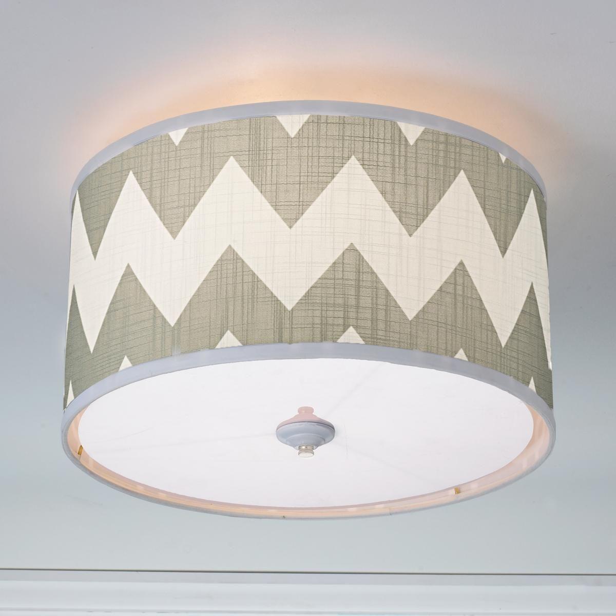 Magna Chevron Drum Shade Ceiling Light 3 Colors