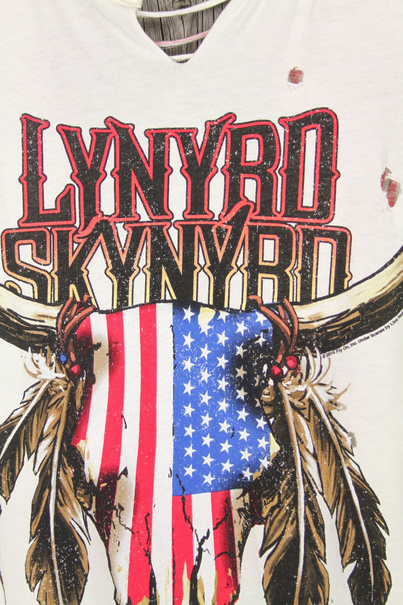 0296673c5fe4d8 TRUNK LTD Lynyrd Skynyrd Longhorn Shredded Tank