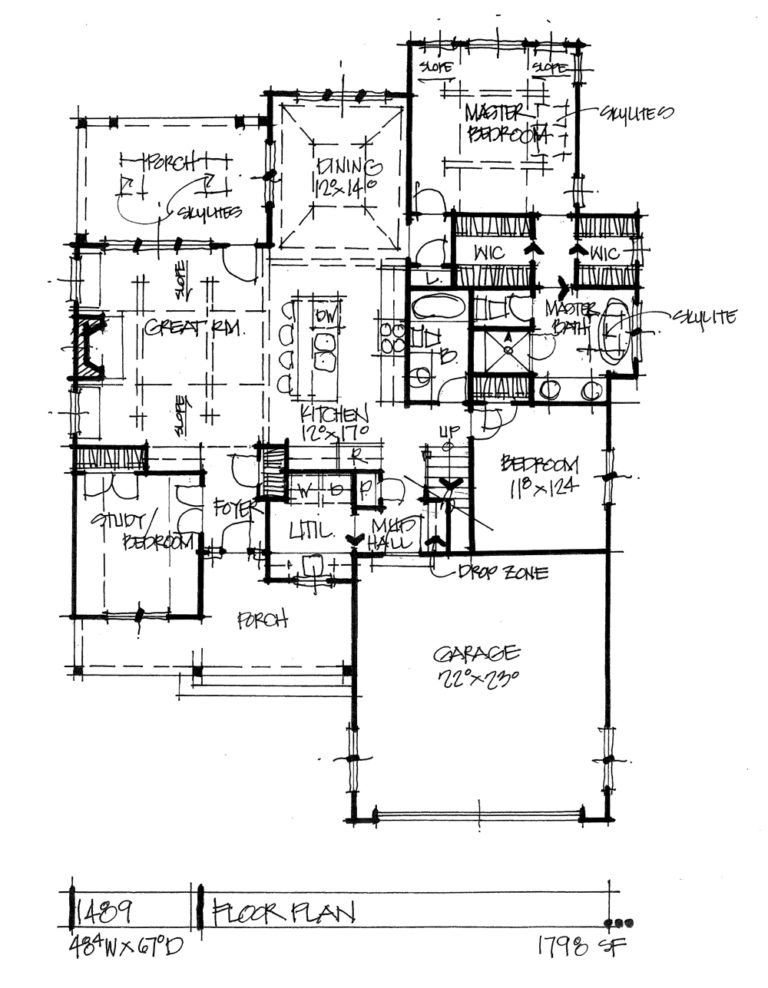 Check Out The First Floor Of Conceptual House Plan 1489 House Plans How To Plan Plan Sketch
