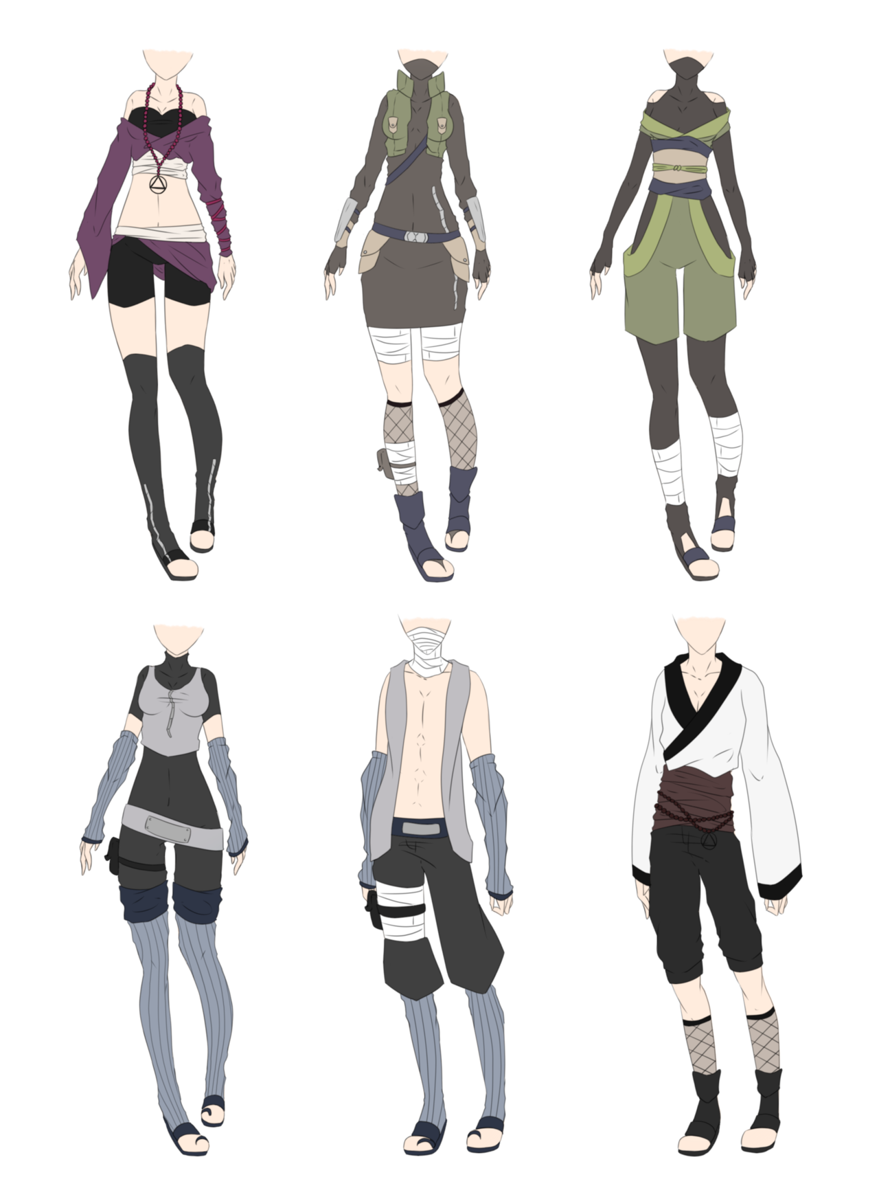 Deviantart Character Design : Naruto outfit adoptables closed by xnoakix viantart