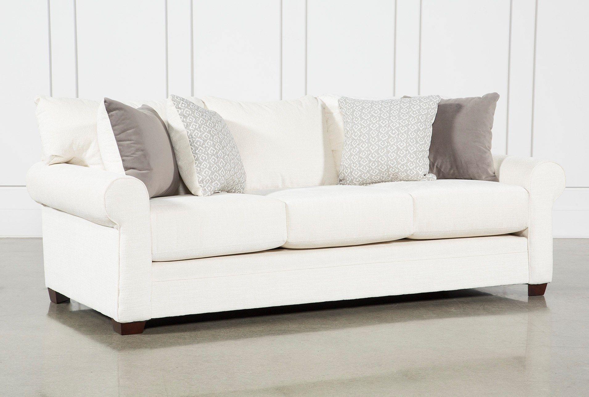 Cameron Ii Sofa White Sofa Living Room White Leather Sofas White Fabric Sofa
