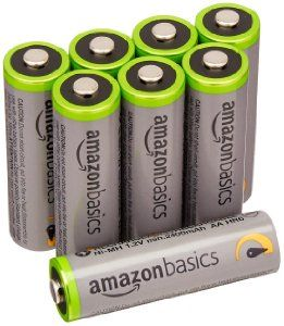 Amazonbasics Aa High Capacity Rechargeable Batteries 8 Pack Pre Charged 15 99 Fs W Prime Lavahot Htt Rechargeable Batteries Batteries Charger Accessories