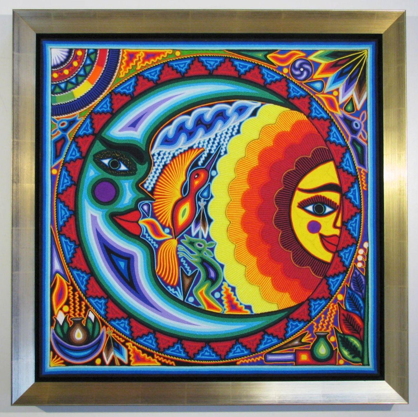 moon art | More Fun Framing Mexican string art sun and moon – Carter ...