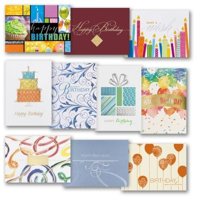 Traditional Birthday Assortment Pack Greeting Cards Traditional