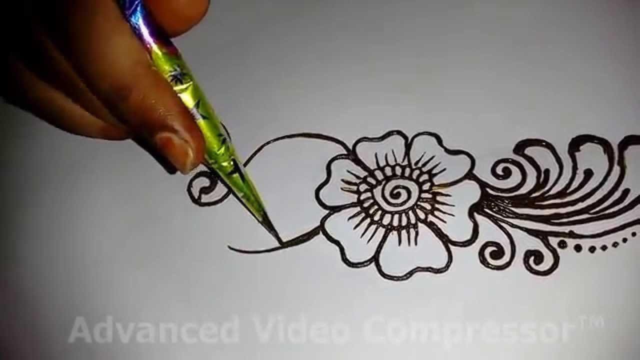 Mehndi Patterns Easy On Paper : Easy simple beautiful mehndi design for full hands matroj