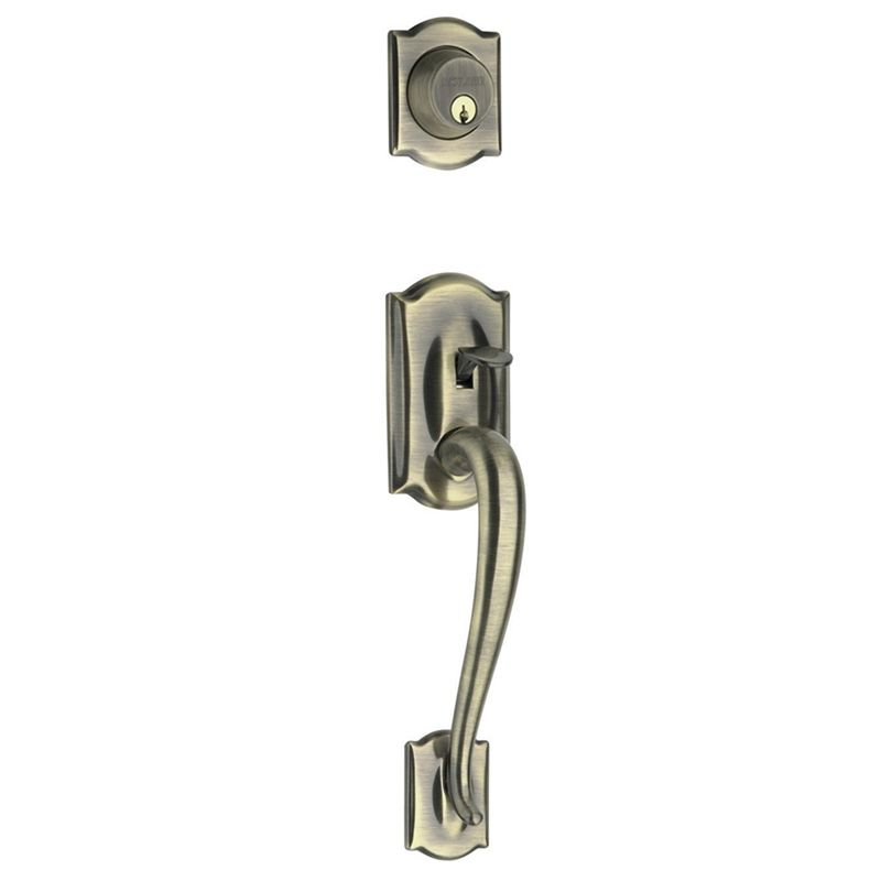Find Schlage F-Series Gripset Double Cylinder Door Handle AS at ...