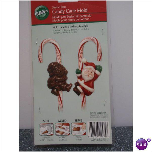 """3"""" Wilton Santa Claus Candy Cane Mold Makes 4 At a Time 2008"""