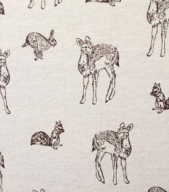 Robert Kaufman Fabric Animal Kingdom All Animals Shadow HALF METRE
