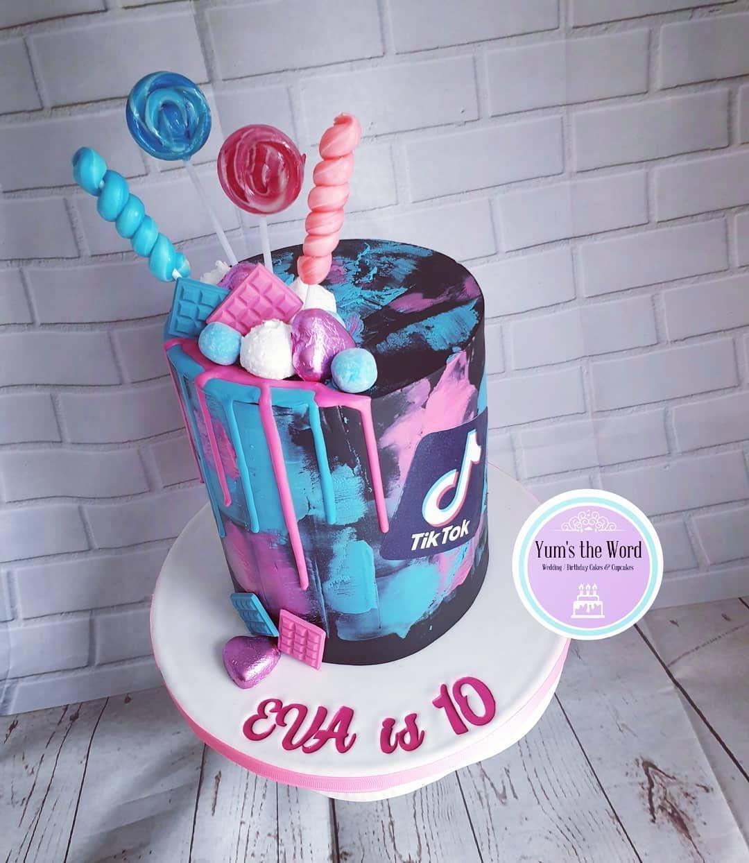 Headphones & Tik Tok Cake in 2020   Unique birthday cakes ...   Tiktok 10th Birthday Cake
