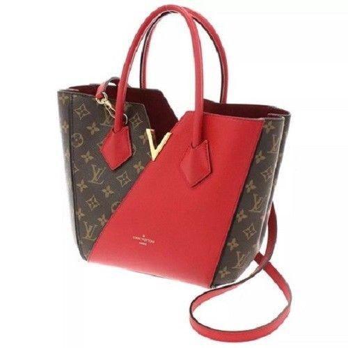 Louis Vuitton Kimono Pm Monogram Red Brown Tote Bag  d9832047a37f3