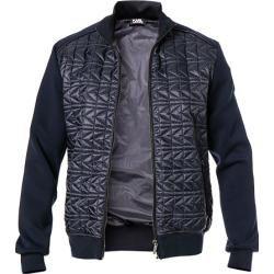 Karl Lagerfeld Sweat-Jacke Herren, Mikrofaser, blau Karl Lagerfeld #indieoutfits