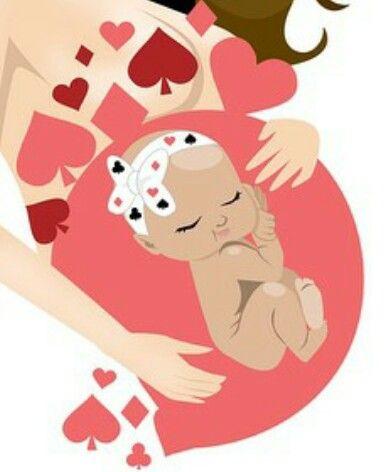 Brutal este arte!!!!! Dibujo de bebe en la panza | ilus ...