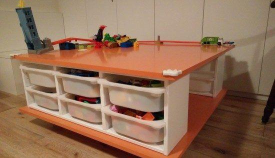 Fabriquer une table roulettes avec les rangements jouets trofast don 39 t you worry child - Table a roulettes ikea ...