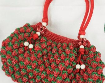 Crochet Strawberry Purse Bag Handcroche T Design By Morina