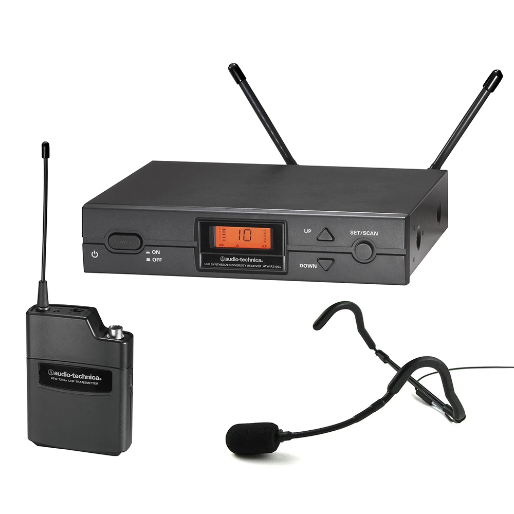 Audio Technica 2000 Series Uhf With E Mic Headset Audio Technica Wireless System Audio