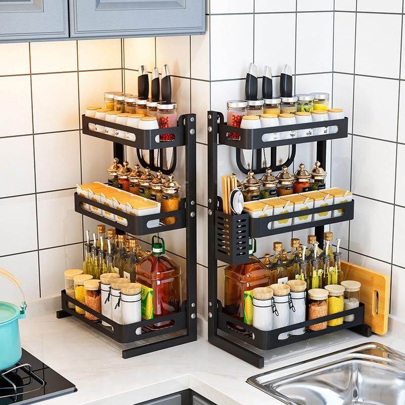 Spice Rack With Kitchen Roll Diy Casa Renovacao De Cozinha Organizadores De Cozinha