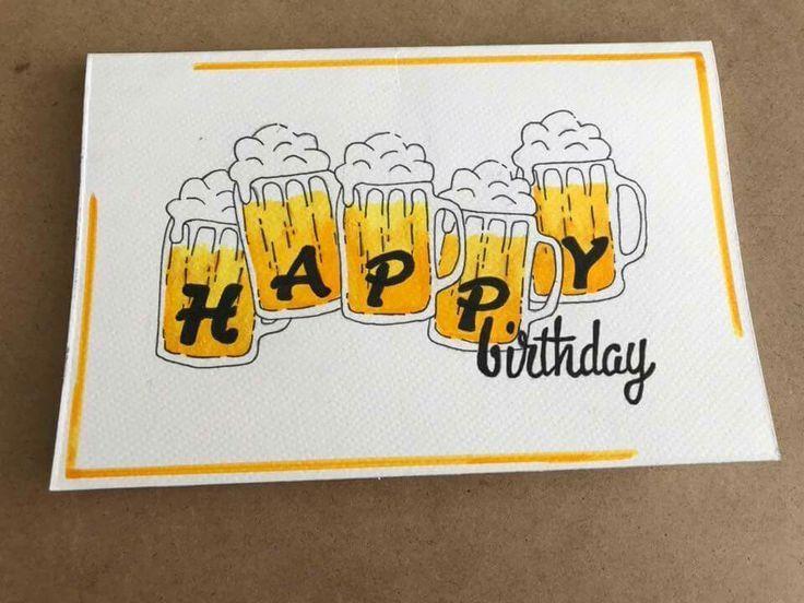 Schöne Geburtstagskarte für einen Mann!