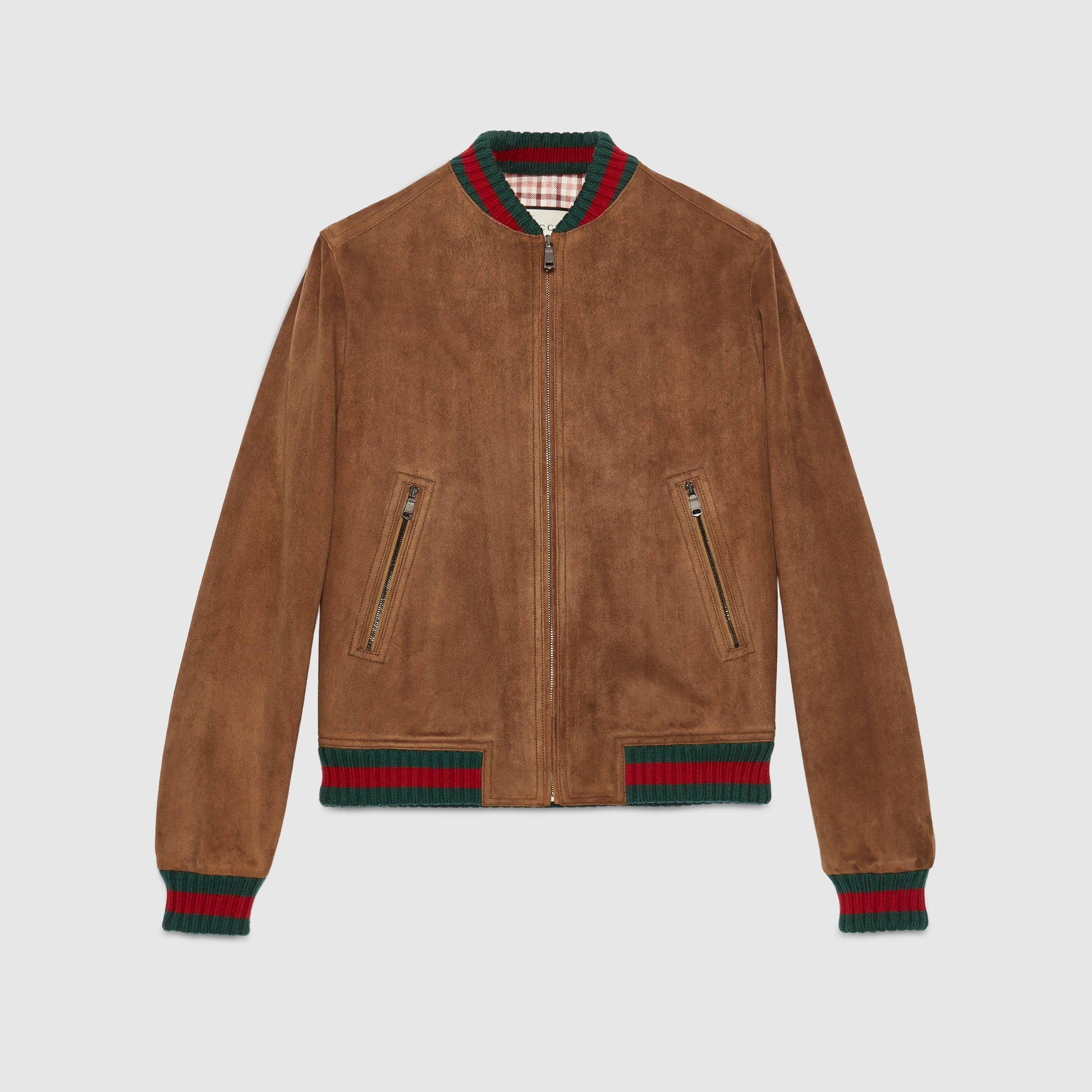 Gucci Suede Jacket With Web Jackets Overcoat Jacket Suede Jacket [ 2400 x 2400 Pixel ]