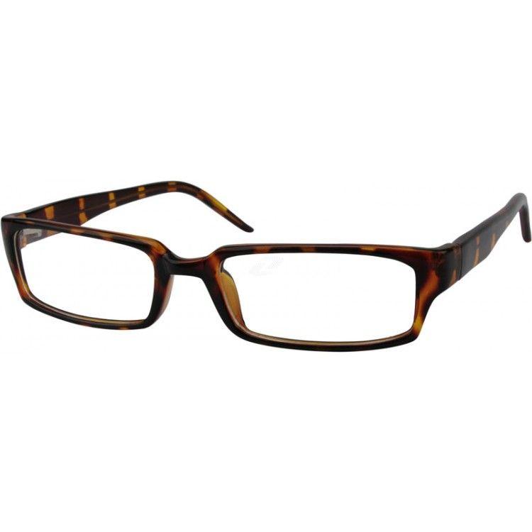 Zenni Classic Rectangle Prescription Eyeglasses Tortoiseshell ...