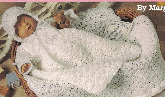Dressing up Dolly christening gown hooded towel by carolsrugs, $11.48