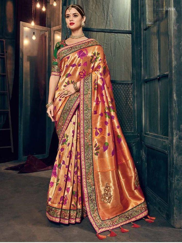Designer saree Bollywood indian BANARASI silk sari Traditional FANCY ethnic K