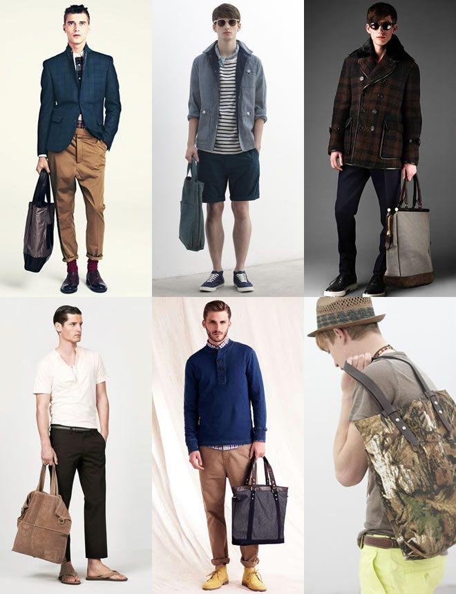 Men S Tote Bags Look Book