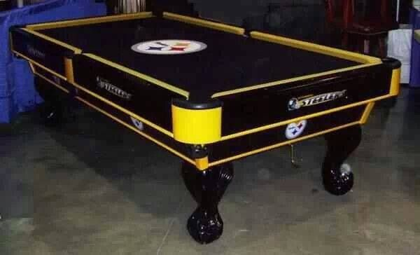 Bon PITTSBURGH STEELERS~pool Table