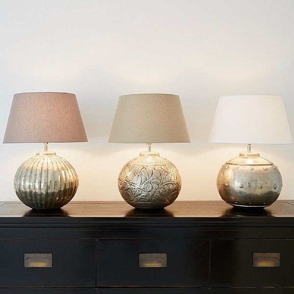 Our dot table lamp base is handmade by artisans in india