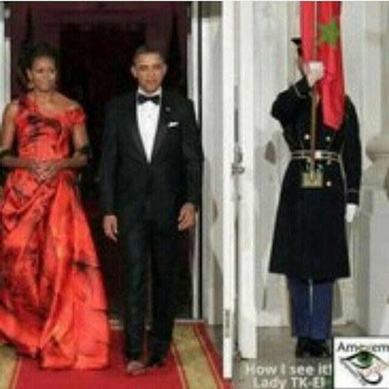 U S  president Barack Obama and wife Michelle at the White House