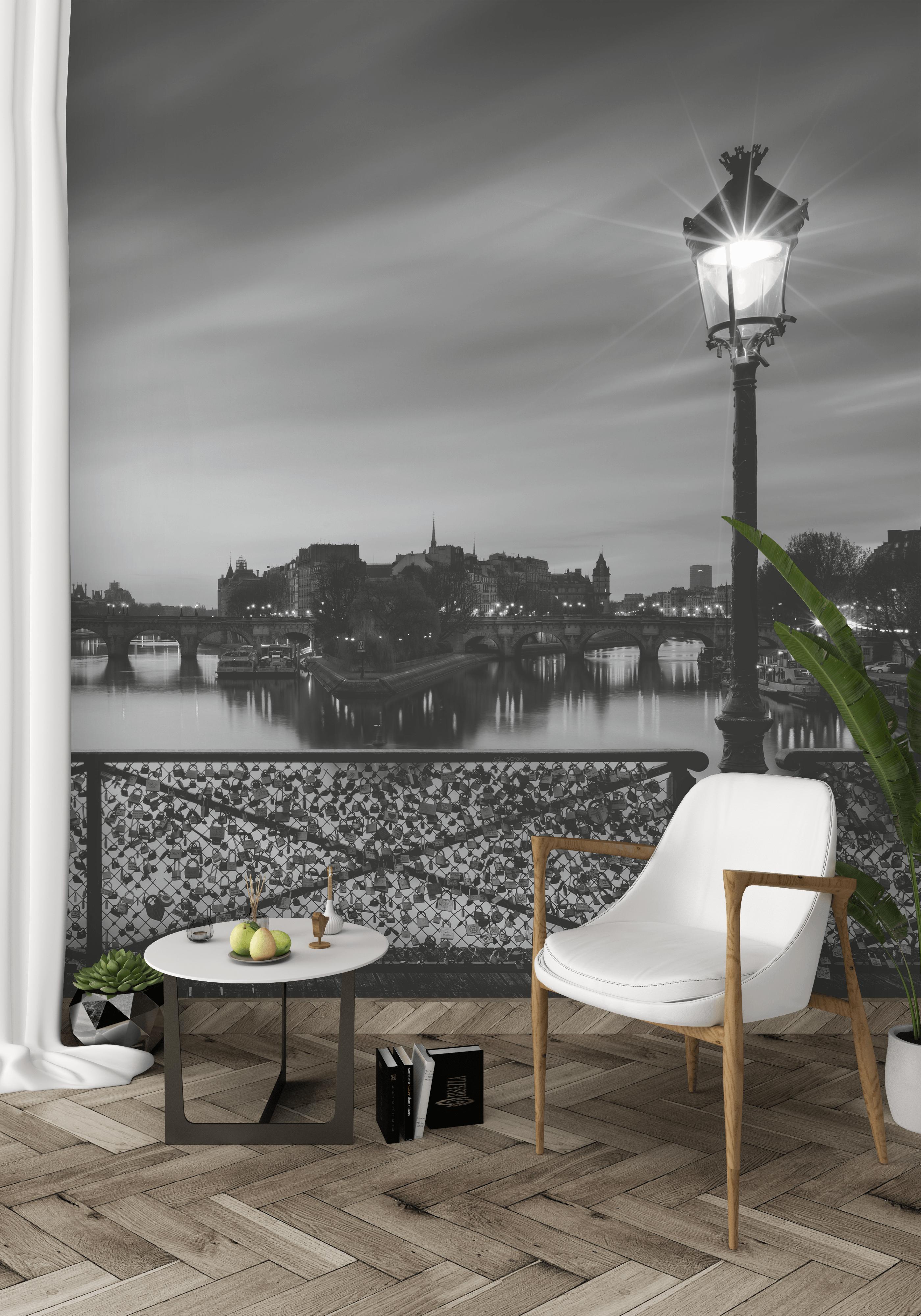 Une Vue De Paris En Noir Et Blanc Du Pont Papierpeint Paris Pont