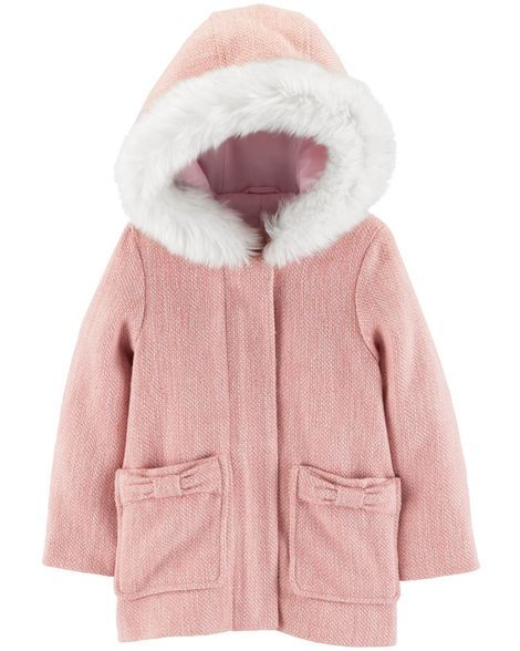 16edbef18 Hooded Faux Wool Jacket in 2018