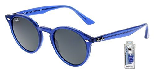 3d41657a04 Ray Ban RB2180 616587 49mm Blue Highstreet Round Sunglasses Bundle - 2  Items Ray-Ban