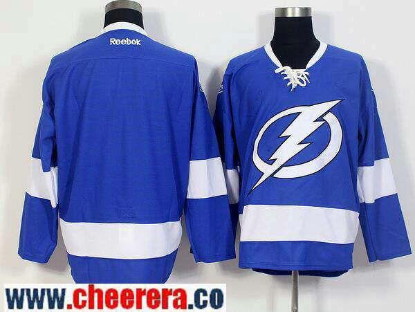 Men's Tampa Bay Lightning Blank Royal Blue Home Stitched NHL Reebok Hockey Jersey