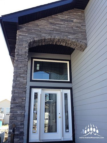 This is a beautiful shot of a creative entrance using our Imperial Stack profile from Veenerstone in Wingate, a popular color.