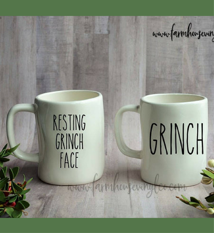 For The Crabbiest Friend On My List Rae Dunn Inspired Grinch