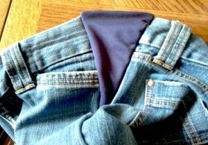 How to turn jeans into side-panel maternity jeans! | Sewing ...