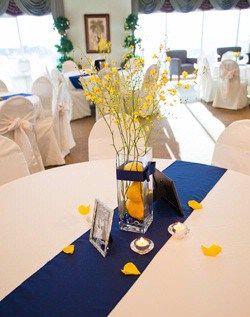 decoration mariage bleu et jaune. Black Bedroom Furniture Sets. Home Design Ideas