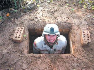 How to Dig a Fox Hole and a Spider Hole.  #prepping #survival