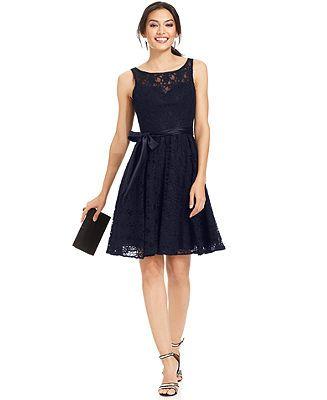30f9472815392c Navy Bridesmaid dress!!! LOVE!!! Marina Sleeveless Illusion Lace ...