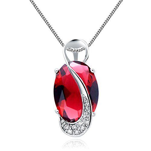 collier femme pierres rouges