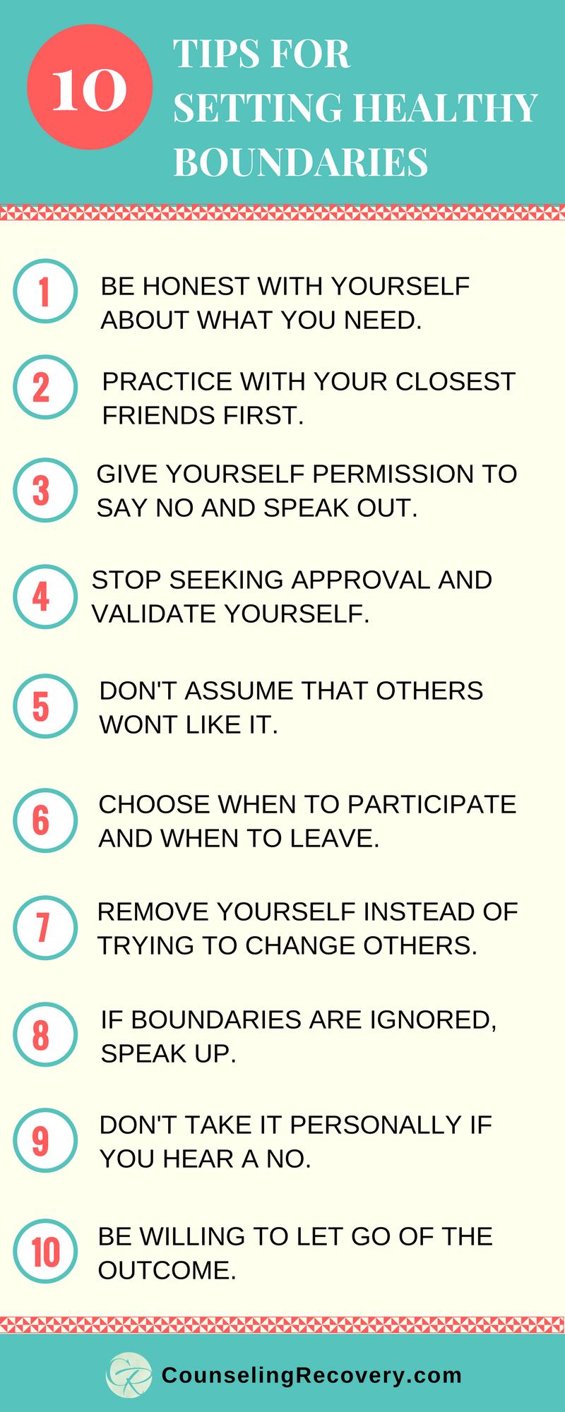 Quotes About Recovery 10 Steps To Setting Healthy Boundaries  Boundaries Quotes