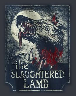 American Werewolf Minimal Movie Poster Posteritty Pub Sign SLAUGHTERED LAMB