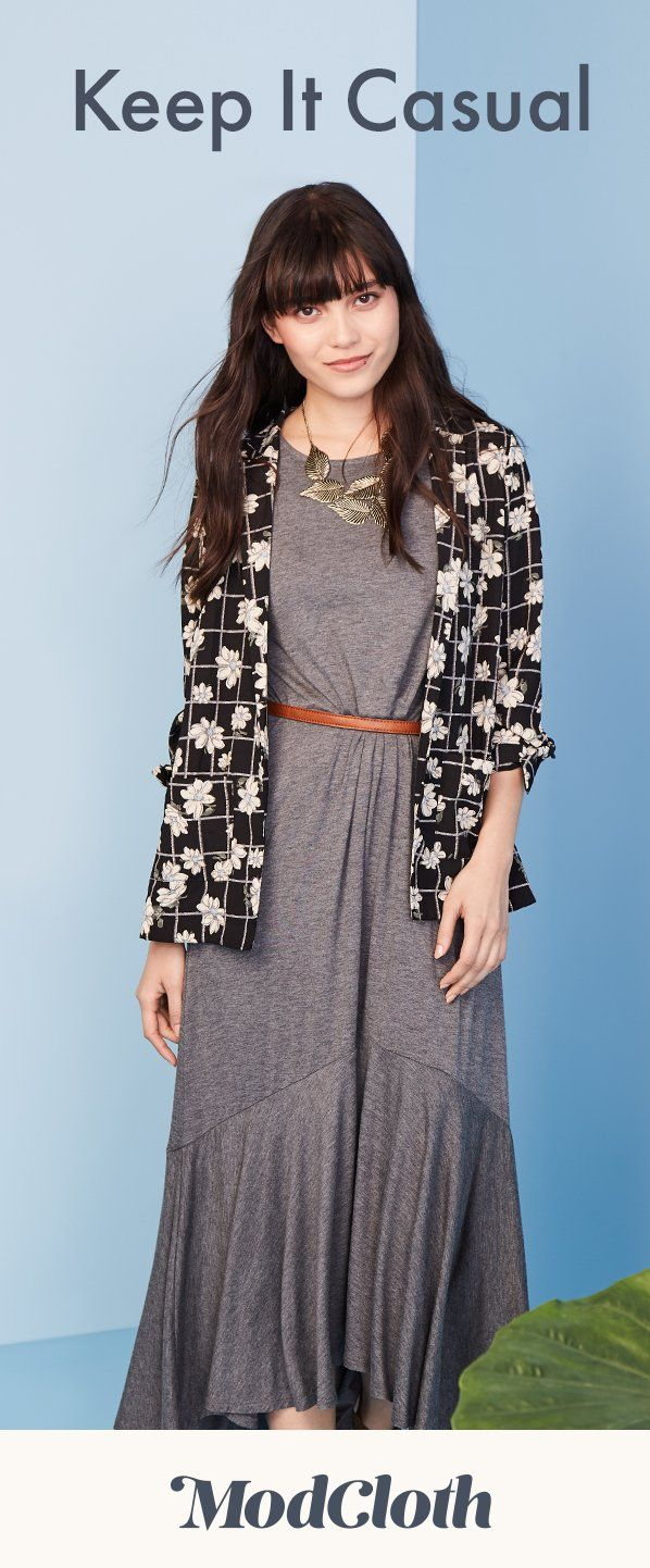 Fearlessly flowy knit maxi dress in short girl fashion