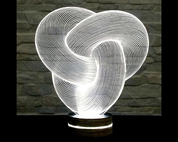 3d Led Lamp Tube Shape Decorative Lamp Home Decor Table Lamp Office Decor Plexiglass Art Art Deco Lamp Acrylic Night En 2020 Table Lamp Decoration Deco Bambou