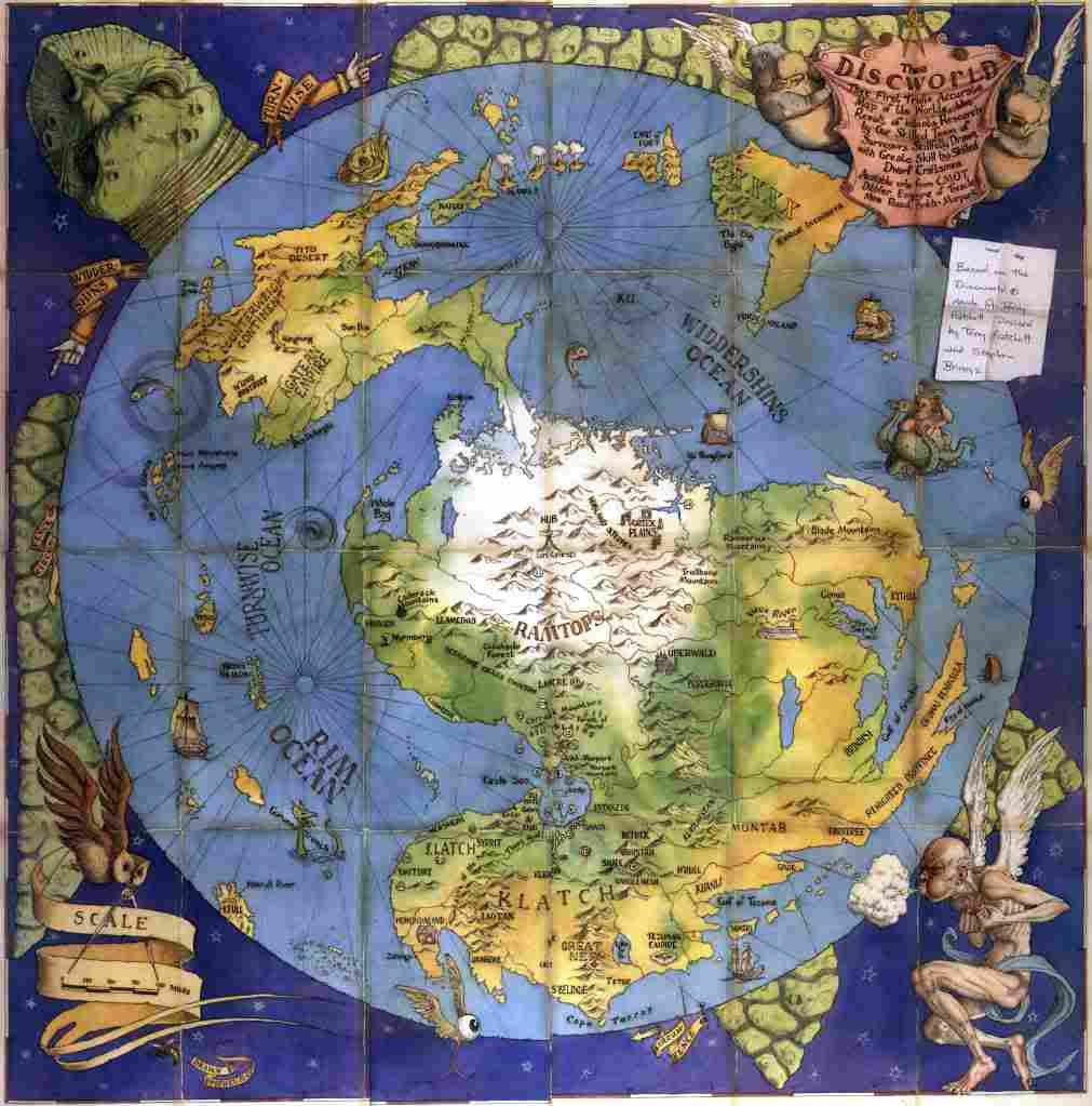 The Discworld By Terry Pratchett With Images Discworld Map