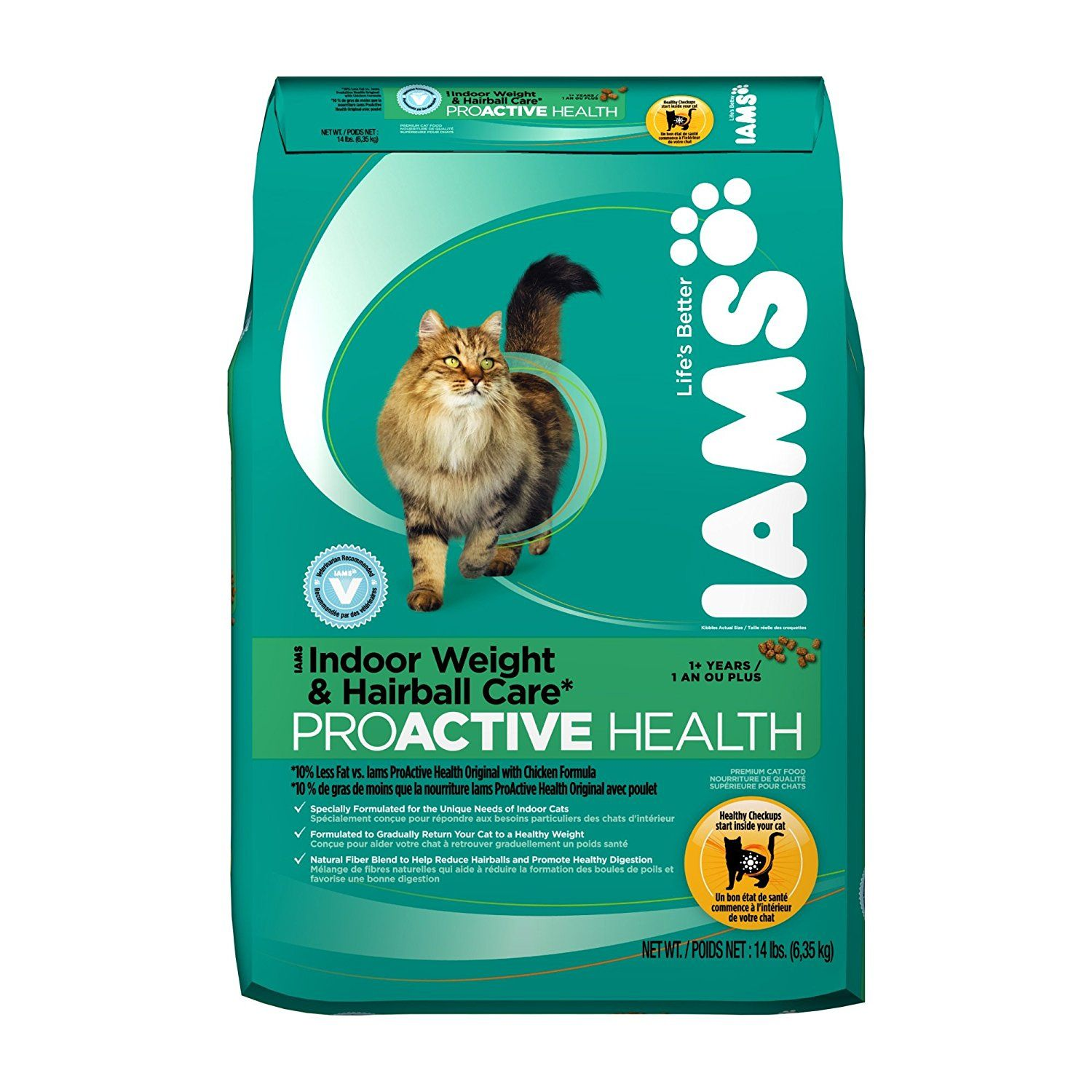 IAMS PROACTIVE HEALTH Adult Indoor Weight and Hairball Care