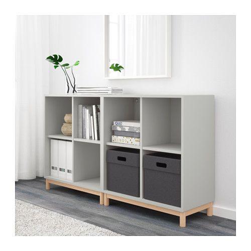eket combinaison rangement avec pieds gris clair chambre pinterest rangement ikea et. Black Bedroom Furniture Sets. Home Design Ideas