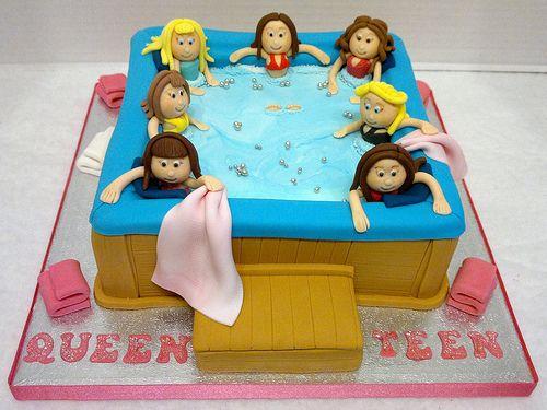Hot Tub Birthday Cake Adult Birthday Cakes Birthday Cakes For
