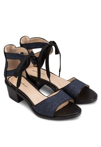 3578e2f63d58 Cut Out Laced Up Heeled Sandals from Something Borrowed in navy 4 ...