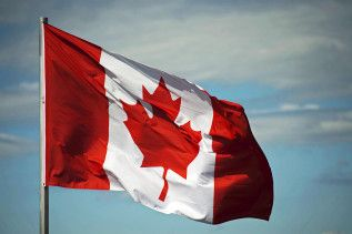 Teilnehmer Kanada Flagge Kanadas Kanadische Flagge